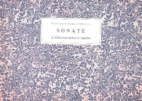12 Sonate a violino o flauto solo e basso opus.1 (Dresden 1721):