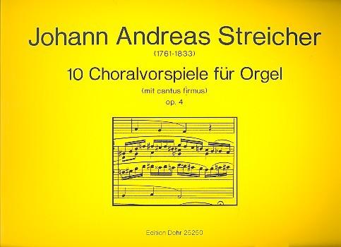 10 Choralvorspiele op.4: für Orgel