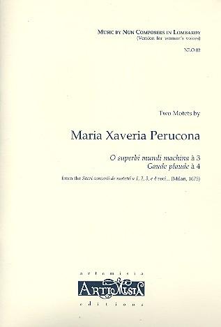 2 Motets from the Sacri concerti de motetti: für 3 bzw. 4 Stimmen