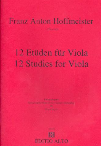 12 Etüden: für Viola