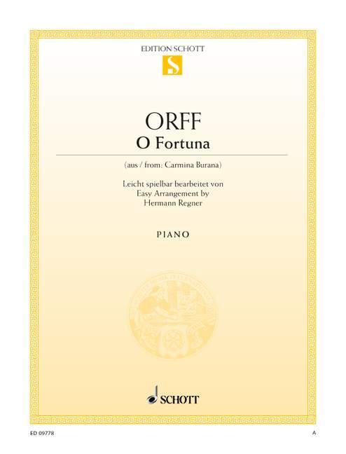 Orff, Carl - O Fortuna : für Klavier leicht