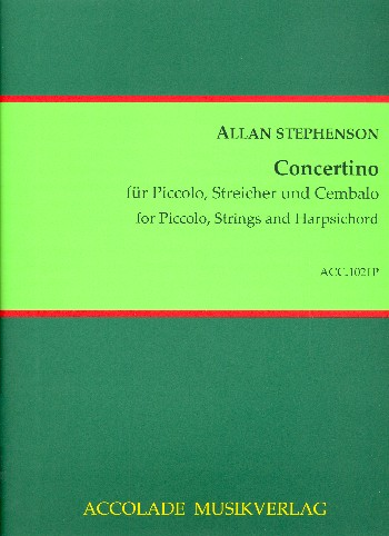 Concertino: for piccolo flute, strings and harpsichord