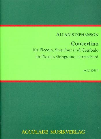 Concertino: for piccolo flute, strings and harpsichord