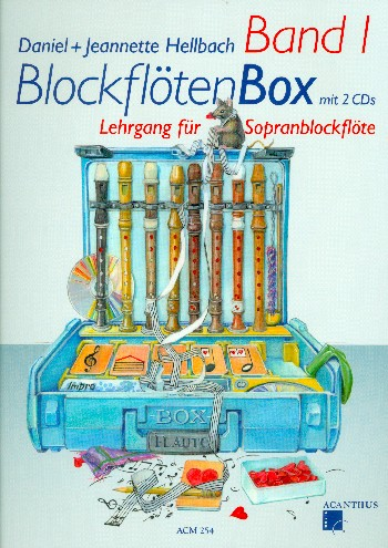 Hellbach, Daniel - Blockflötenbox Band 1 (+2 CD's) :