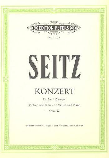 Konzert D-Dur op.22 für Violine und Orchester: für Violine  und Klavier