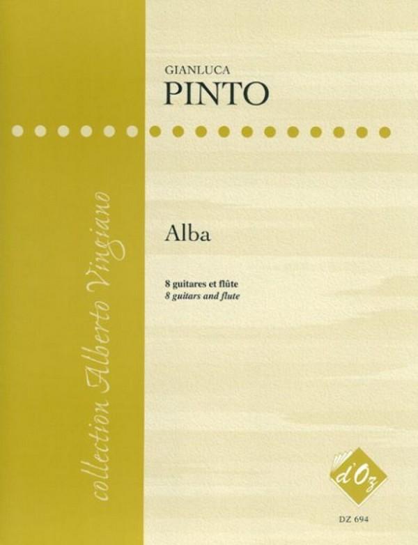 Alba: für 8 Gitarren und Flöte Partitur und Stimmen