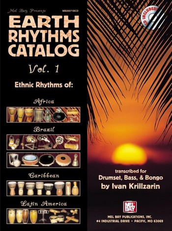 Earth Rhythm Catalogue vol.1(+CD) : for drumset, bass, bongo