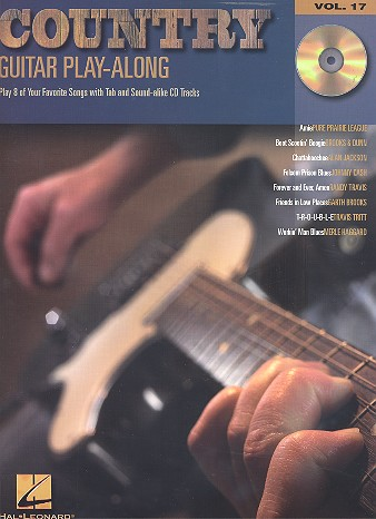 Country (+CD): guitar-play-along vol.17 play 8 of your favorite songs with tablature and