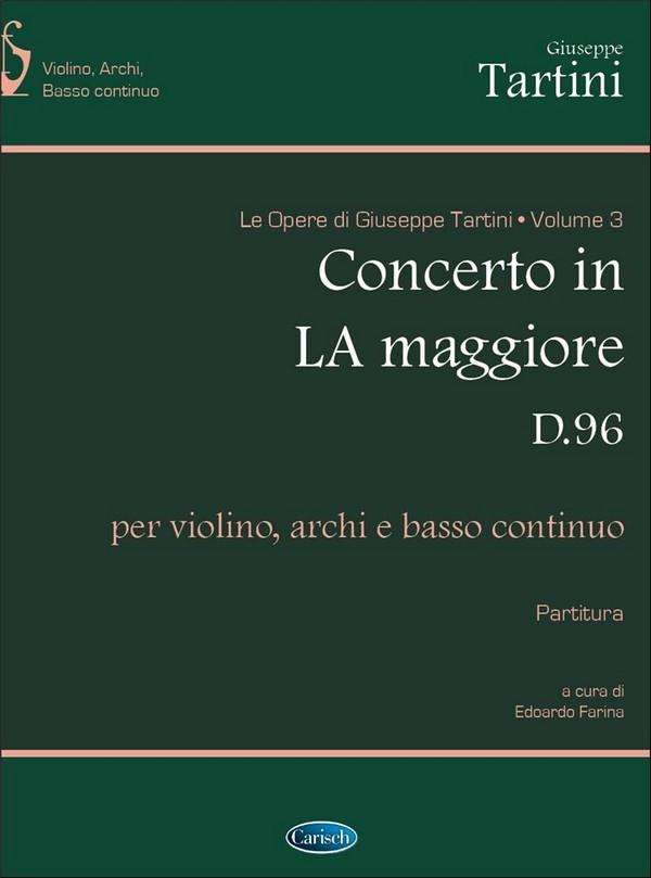 Konzert A-Dur D96: für Violine, Streicher und Bc