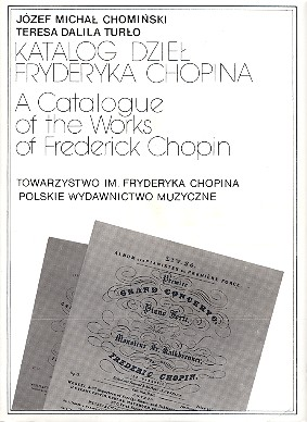 A Catalogue of the Works of Frederic Chopin
