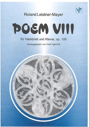Poem VIII op103: für Hackbrett und Klavier Partitur und Stimme