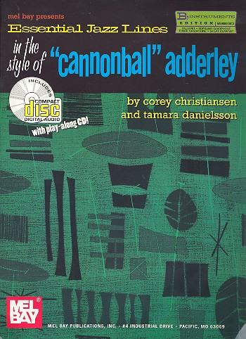 Essential Jazz Lines in the Styles of Cannonball Adderley (+CD):