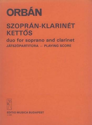 Duo: für Sopran und Klarinette Spielpartitur (en/ung)