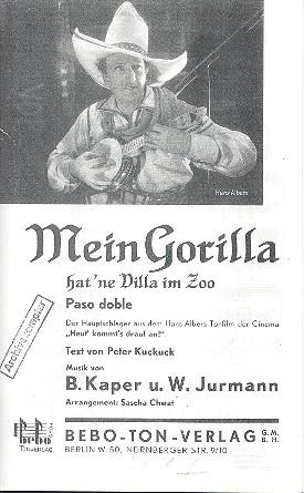 Mein Gorilla hat ne Villa im Zoo: für Salonorchester