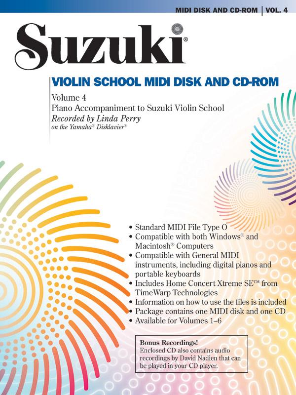 Suzuki Violin School vol.4: Midi-Disk + CD-ROM Piano Accompaniment