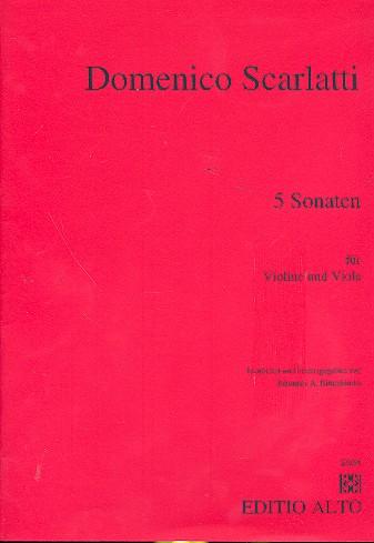 5 Sonaten: für Violine und Viola