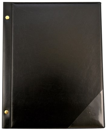 Chormappe mit Buchschrauben 10 Taschen schwarz