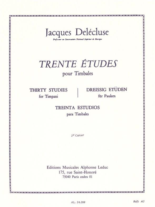 30 Études vol.2: pour timbales (fr/dt/en/sp)
