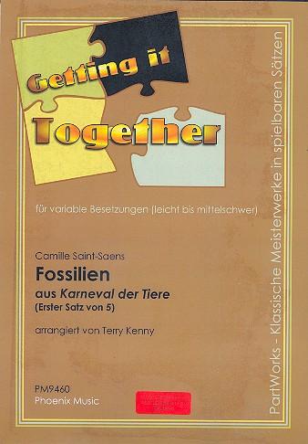 Fossilien aus Karneval der Tiere: für variable Besetzung ( leicht bis mittelschwer )