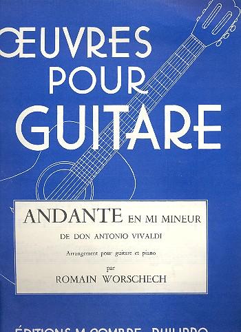 Andante e-Moll: für Gitarre und Klavier Spielpartitur