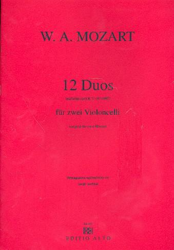 12 Duos KV487 für 2 Hörner: für 2 Violoncelli