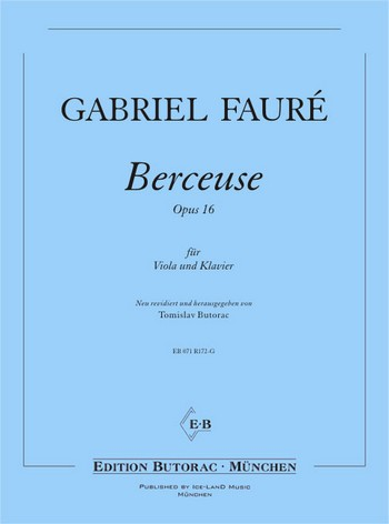 Berceuse op.16: für Viola und Klavier