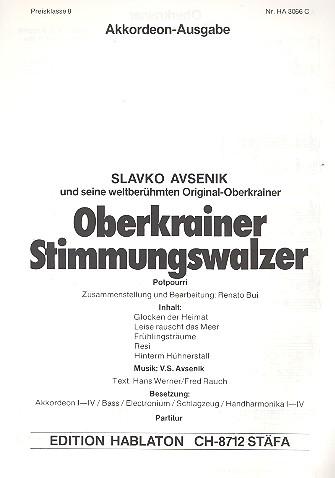 Oberkrainer Stimmungswalzer (Potpourri): für Akkordeonorchester