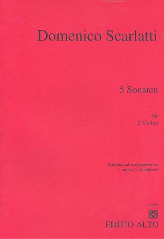 5 Sonaten: für 2 Violen Partitur