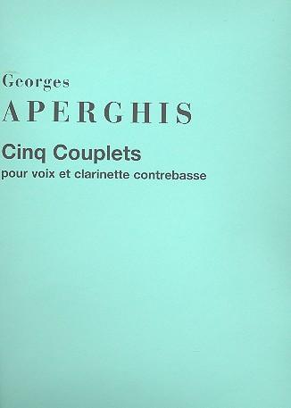 5 Couplets: pour voix et clarinette contrebasse partition