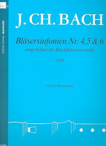 3 Bläsersinfonien Nr.4-6: für 3 Blockflöten (ATB) oder Blockflötenensemble