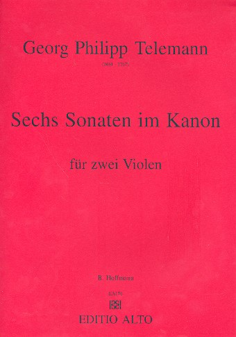6 Sonaten im Kanon: für 2 Violen