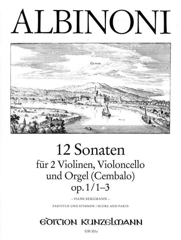 12 Sonaten opus.1 Band 1 (Nr.1-3): für 2 Violinen, Violoncello und Orgel