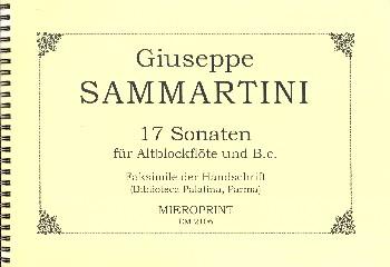 17 Sonaten: für Altblockflöte und Bc Faksimile der Handschrift