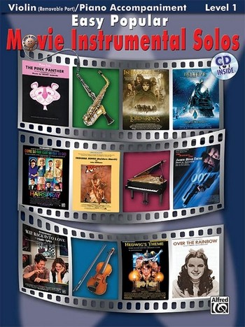 Easy popular Movie Instrumental Solos (+CD): for violin / piano accompaniment