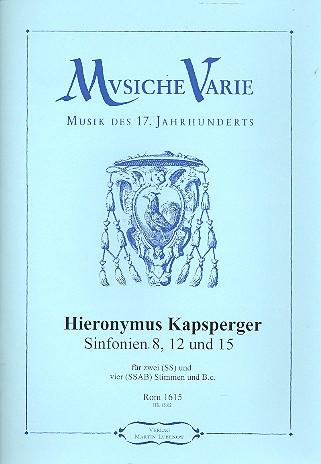 3 Sinfonien: für 2 und 4 Stimmen und Bc Partitur und Stimmen