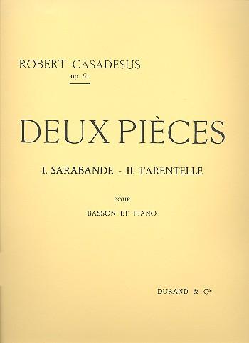 2 pièces opus.61: für Fagott und Klavier