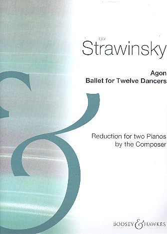 Agon: reduction for 2 pianos 4 hands score
