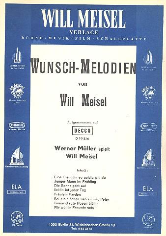 Wunschmelodien: für Gesang und Klavier