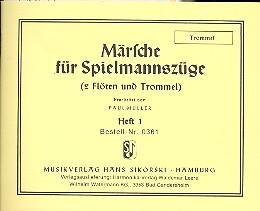 Märsche für Spielmannszüge Band 1: für 2 Flöten und Trommel