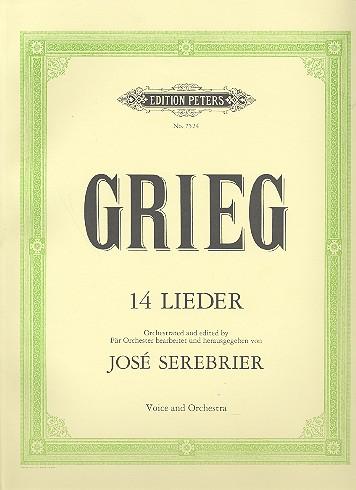 14 Lieder: für Gesang und Orchester Partitur