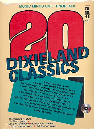 Music Minus One Tenor Sax (+CD): 20 Dixieland Classics
