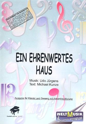 Ein ehrenwertes Haus: Einzelausgabe für Gesang und Klavier
