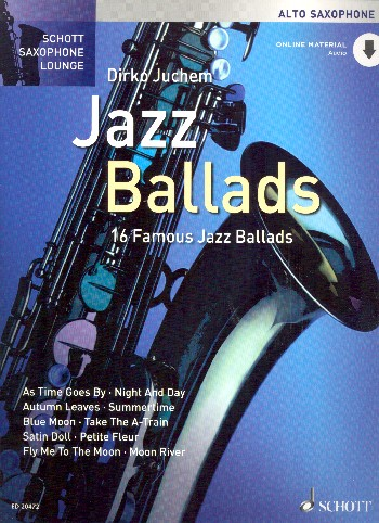 16 famous Jazz Ballads (+CD): for alto saxophone and piano