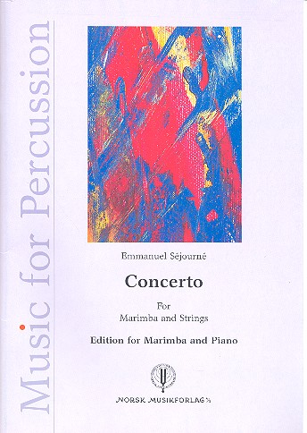 Concerto for marimba and strings: for marimba and piano