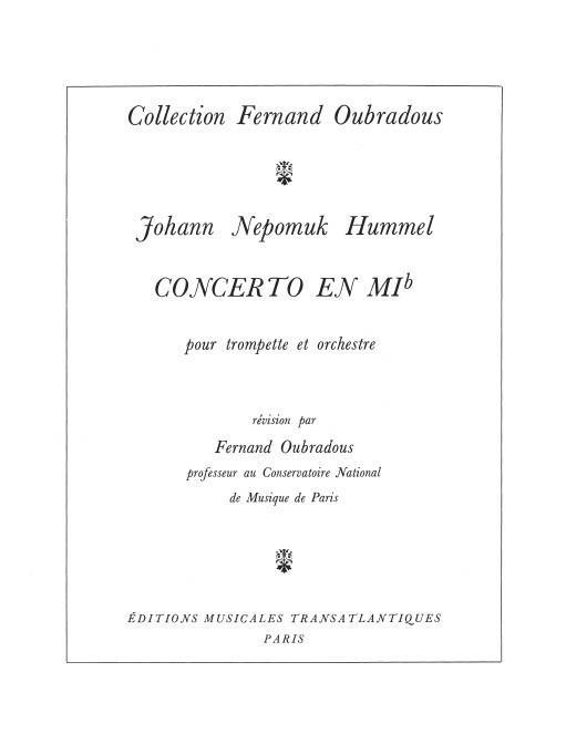 Konzert Es-Dur für Trompete und Orchester: für Trompete und Klavier