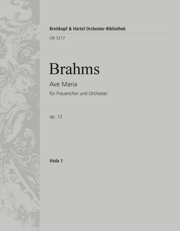 Ave Maria opus.12: für Frauenchor und Orchester (Orgel)