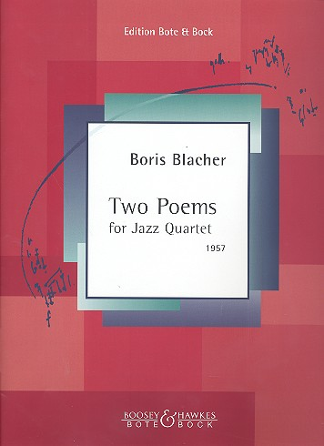 2 Poems: for vibraphon, bass, drums and piano