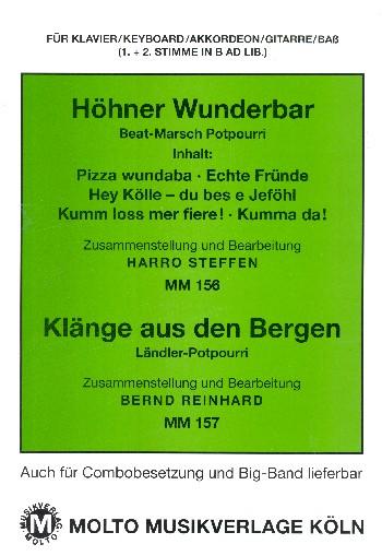 Höhner wunderbar und Klänge aus den Bergen: für Klavier (Keyboard/Akkordeon/Gitarre/Bass)