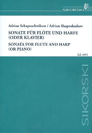 Schaposchnikow, Adrian - Sonate : für Flöte und Harfe (Klavier)