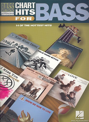 Chart Hits for Bass: Songbook vocal/bass/tab